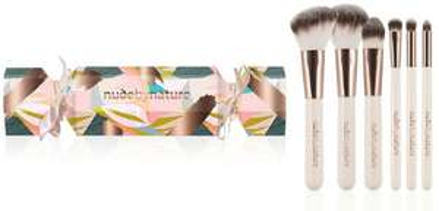 Nude by Nature - 'Divine' Essential 6 Piece Makeup Brush Set £14.30  Debenhams