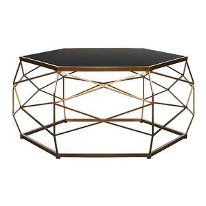 Glass Top Geometric Coffee Table for £60 @ George (P&P £2.95)