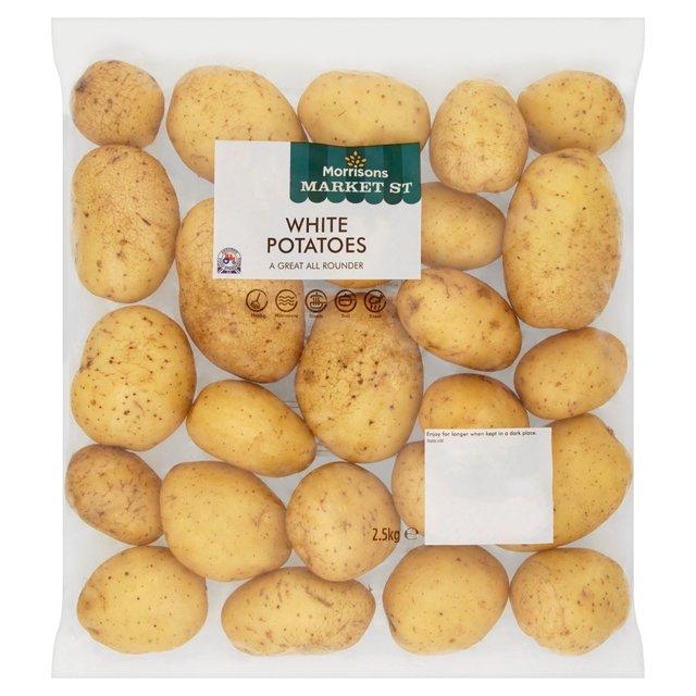 2.5kg White Potatoes 50p @ Morrisons instore