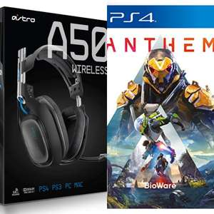 PS4 Astro A50 wireless gaming headset with base station + PS4 Anthem - £260 @ Currys
