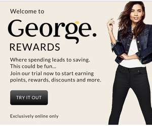 New George Rewards scheme. Collect points to receive extra discounts and rewards. Free to join.