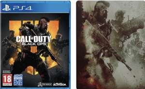 CALL OF DUTY: BLACK OPS 4 + STEELBOOK (PS4) £29.95, Standard Edition is £23.95 @ The Game Collection