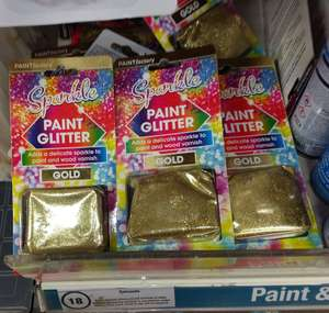 Paintfactory Sparkle Paint Glitter Packs (Adds a delicate sparkle to paint and wood varnish), Gold, £1, In Store @ Poundland
