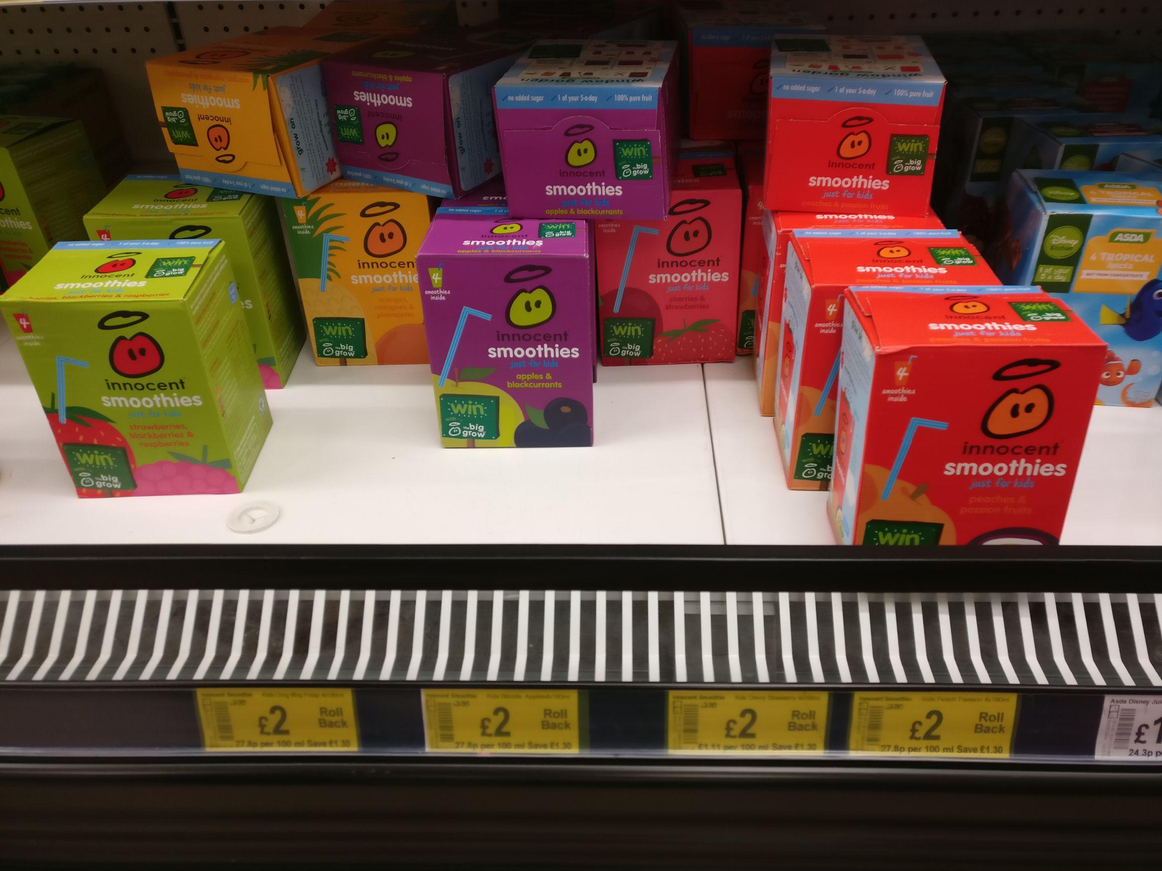 Lunchbox Innocent Smoothies £2 Instore @ Asda (Newtownards)