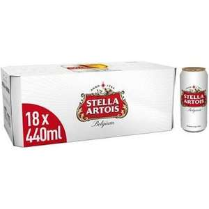 Stella Artois Lager 18 cans (18x440 ml) £12 @ Asda (online and instore)