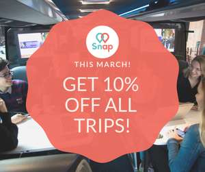 10% off Snap coach travel