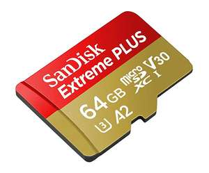 SanDisk Extreme PLUS 64GB microSDXC Memory Card + SD Adapter A2 App Performance upto 170MB/s - £15.49  (Prime) / £16.48 (nonPrime) Amazon