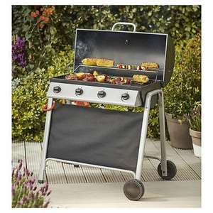 Tesco Barrel 4 Burner Gas Barbecue With Cover With Thermometer - £79 Tesco Outlet