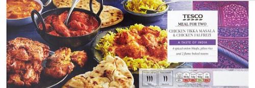 Tesco Korma / Tikka Masala Meal For 2 or Indian Tikka/Jalfrezi Meal For 2 £4 - 1.45Kg  @ Tesco