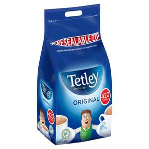 Tetley Tea Bags 420 per pack for £5 @ Morrisons