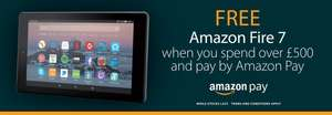 Sevenoaks Sound & Vision - Spend over £500 and pay with Amazon Pay to get a free Amazon Fire 7 Tablet.