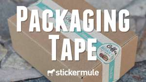 "£6.80 for 3"" x 100 Packaging Tape (Customised) was £14.30 Shipping Included (Rough Conversion of Price) at Stickermule"