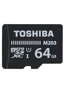 Toshiba M203 64GB MicroSDXC Class 10 U1 100MB/s with SD Adapter for £5.99 Delivered @ Base