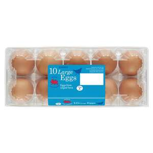 Iceland 10 Large Fresh Eggs (caged hens) £1 - 2 Boxes £1.80