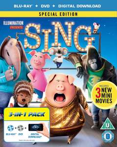 SING Special Edition. Contains: Blu-Ray + DVD + Digital Copy £3.99 (Prime) / £6.98 (non Prime) @ Amazon UK