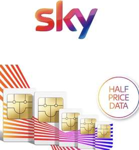 Sky Mobile 50% off 8GB £5/25GB £12.50 for EXISTING MOBILE customers