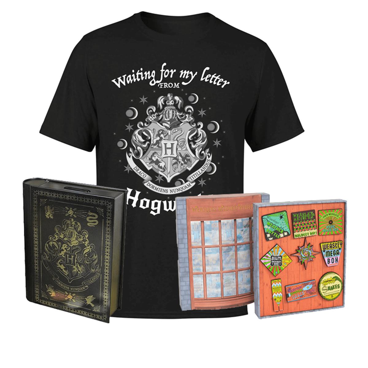 Harry Potter T-Shirt / Pin Badge Set / Book Savings Bank £16.99 Delivered w/code @ IWOOT [Men's, Women's & Kids shirt Sizes]