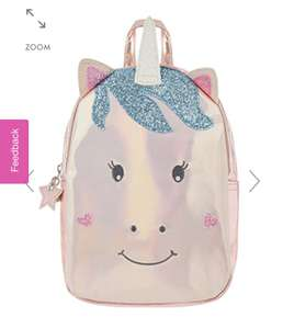 Accessorize Unicorn backpack £6.40 with code free click and collect