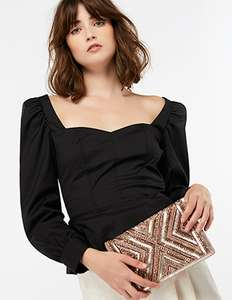 Accessorize Cleo Beaded Clutch Bag in Nude or Navy - £8.96 With Code (Free C&C)