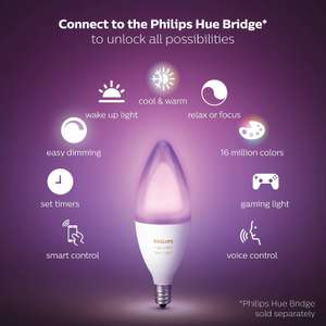 Philips Hue White and Colour Ambiance Personal Wireless Lighting - £64 @ Amazon