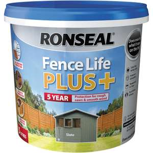 Ronseal Fence Life Plus 5L Slate £9.99 @ Toolstation