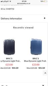 Brics cabin luggage 90% off £23 + £5.95pp at BrandAlley