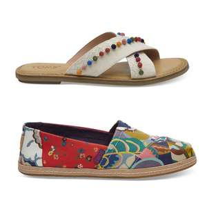 TOMS upto 40% Off Sale + Free Delivery + Extra 20% Off with code