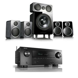 Denon AVRX2500H [ Dolby Atmos] 7.2 Ch. 4K AV Receiver + Wharfedale Diamond DX-2 Black Speaker £699.99 @ electricshop