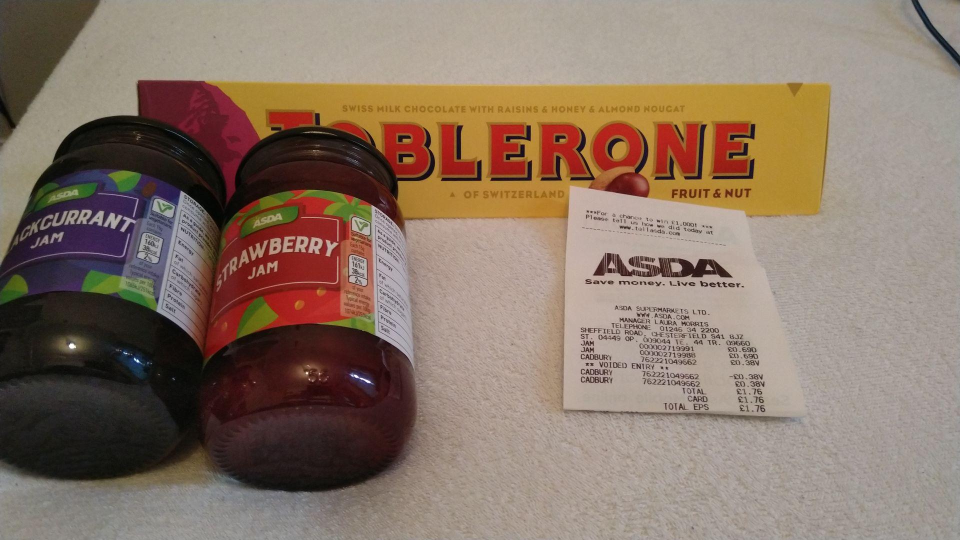 Toblerone scanning at 38p @ Asda in-store