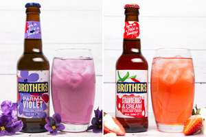 BROTHERS New Range Cider - Parma Violet / Strawberries and Cream £1.15