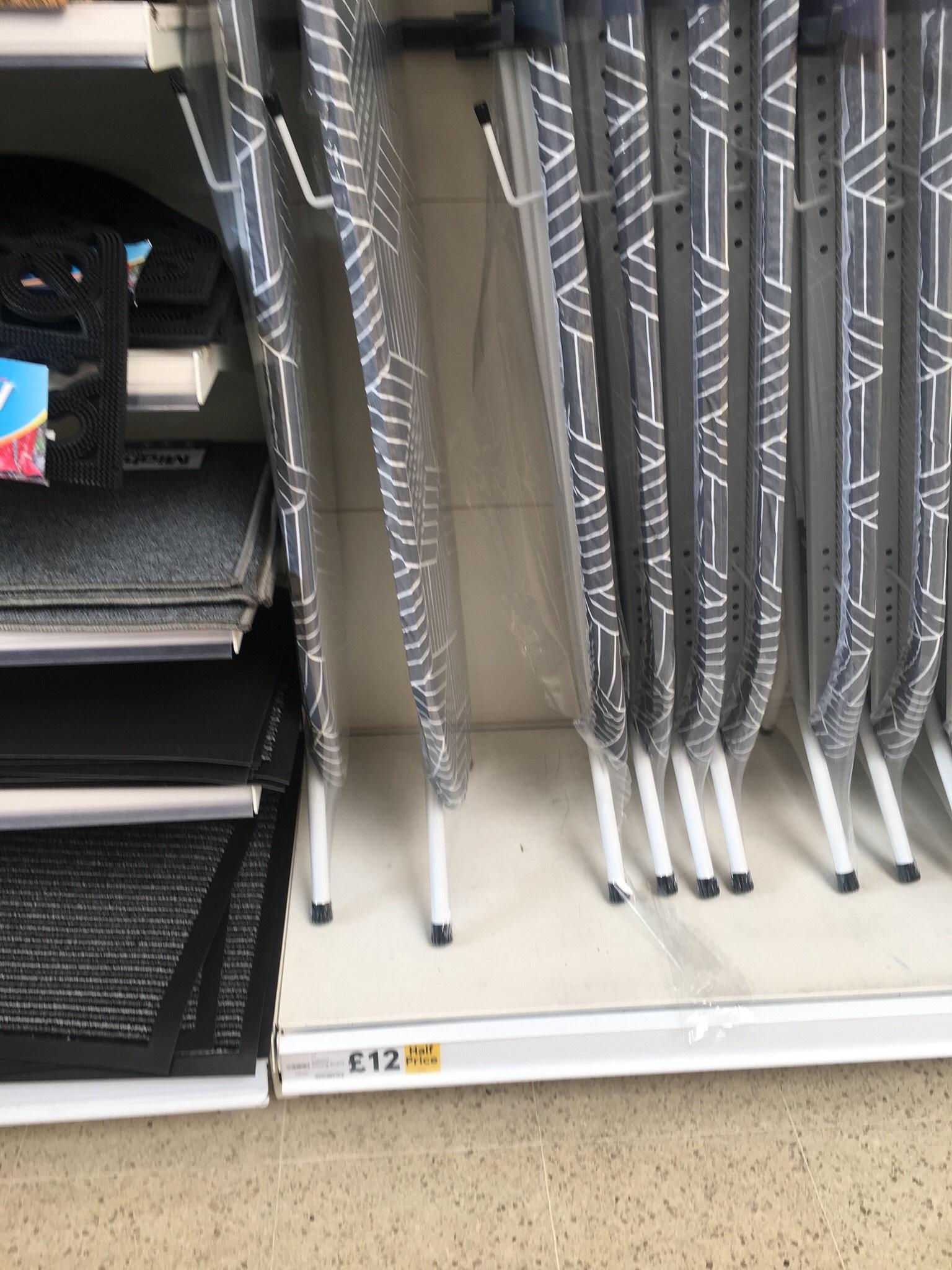 Sabichi grey Geo ironing board £12.50 Tesco in store