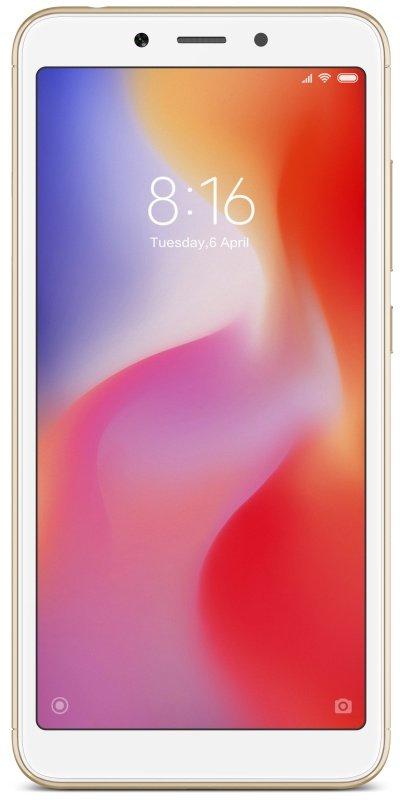 """Xiaomi Redmi 6 5.45"""" 3GB 32GB 4G Dual Sim Smartphone - Gold £89.99 @ Ebuyer"""