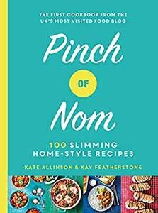 Pinch of nom slimming cook book 100 recipes £10 at Amazon delivered (£16.49 delivered at WHSmith)Currently unavailable at Asda online.