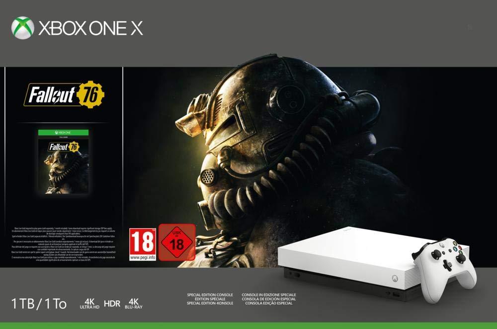 Xbox One X (White) + Rare Replay + Gears of War 4 + Halo 5 + Fallout 76 (£303.26 Fee Free Card / £314.61 Non Fee Free Card) @ Amazon Spain