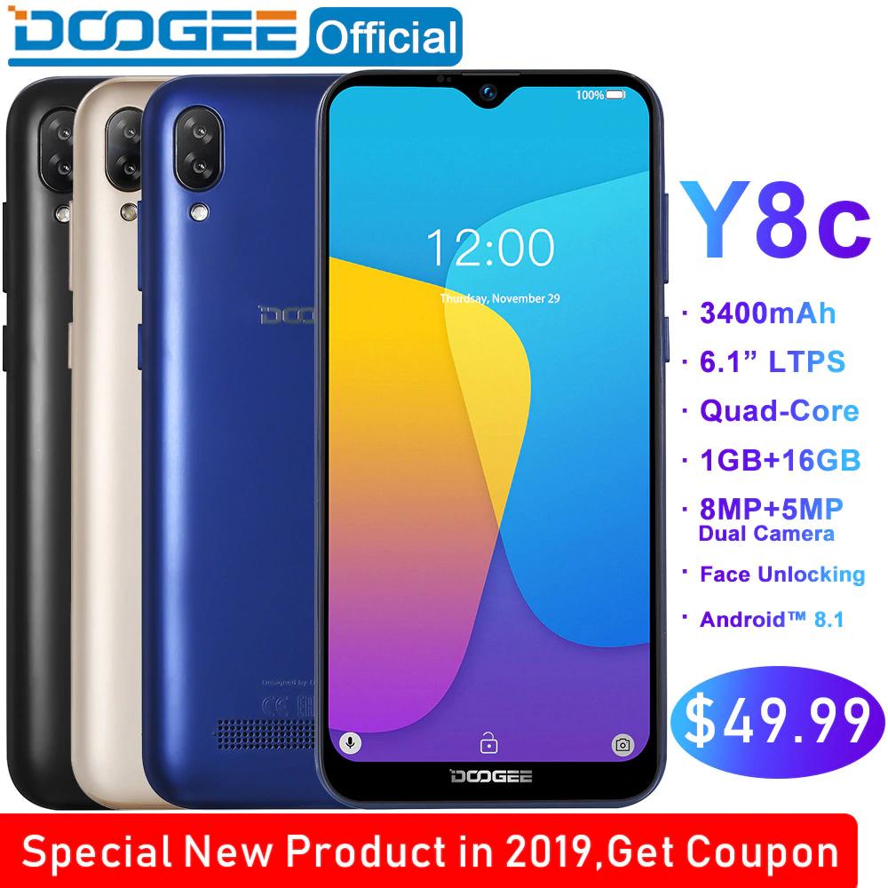 DooGee Y8C - Android Go Smartphone - Ali Express/DooGee Official - £38.51