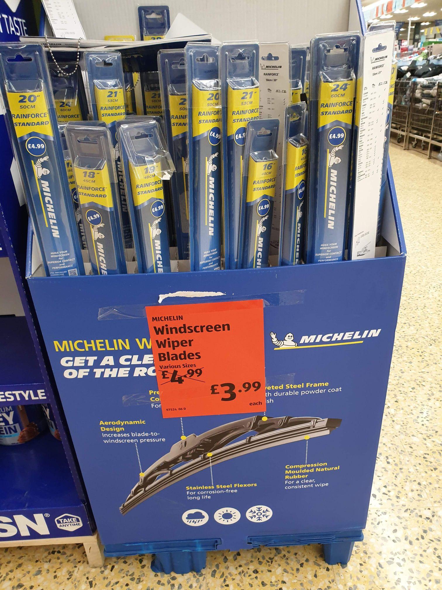 Michelin Rainforce standard Wiper Blades - various sizes In-store @ Aldi - £3.99
