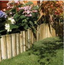 Rowlinson Easy Fix Spiked Border Log Roll - 1.5m long pressure treated and 5 year guarantee £4 until Monday 1st @ Wickes