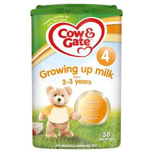 Cow and Gate 2,3 and 4 milk powder 2 for £13.50 @ Tesco