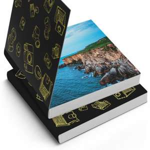 20 Page Photo Pocket Book 9.5cm x 9.5cm  - Lay Flat Photo Pages £3 Delivered with code @ PrinterPix
