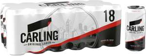 Carling Lager  18 x 440ml cans £10 @ Asda