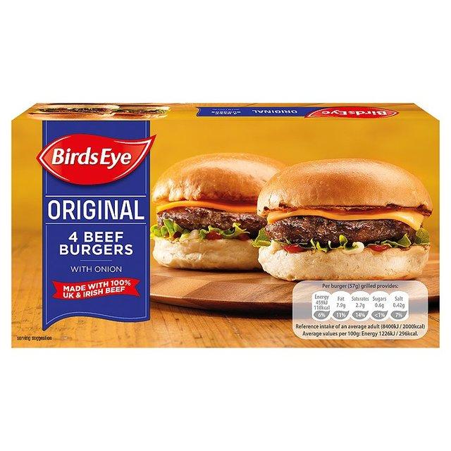 Birds Eye 4 Beef Burgers 40p RTC at McColls Instore