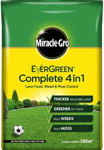 Miracle-Gro Evergreen Complete 4in1 7kg - 200m2 £10 (Prime) / £14.49 (non Prime) Amazon