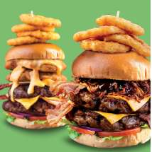 Buy one get one free on burgers all day every Friday including Vegan, fish and Quadzilla burgers @ Hungry Horse