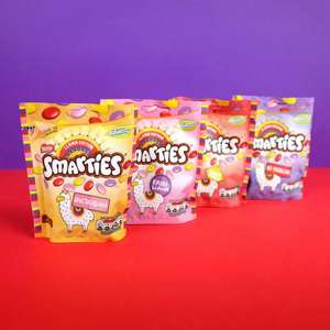 Limited edition Llama Smarties sharing bags in pink, yellow, red & purple £1 online and in store @ Asda