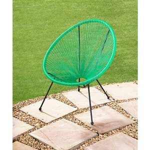 Hawaii String Garden Chair, Grey, Green or White £22 @ B&M was £30 (matching bench & table also reduced)