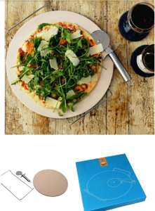 Argon Tableware Pizza Stone £4.99 + £2.99 delivery - 32cm with Pizza Cutter and Stand @ Rinkit