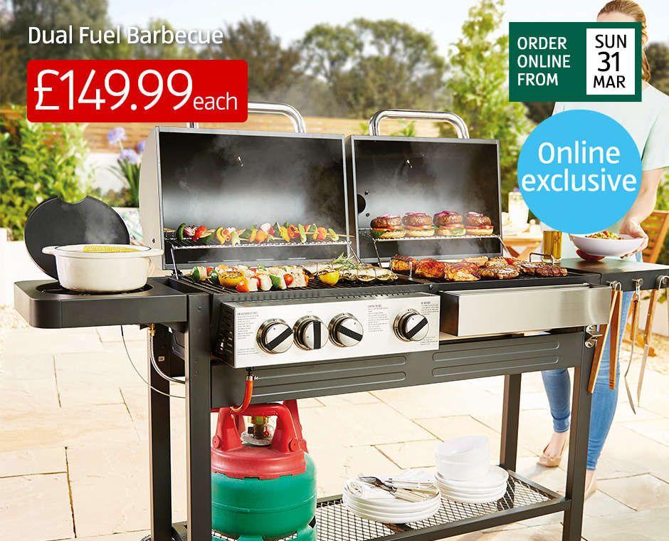 Dual Fuel BBQ £149.99 @ Aldi