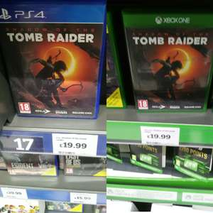 Shadow of the Tomb Raider on Xbox one and PS4 £19.99 instore @ Sainsbury's