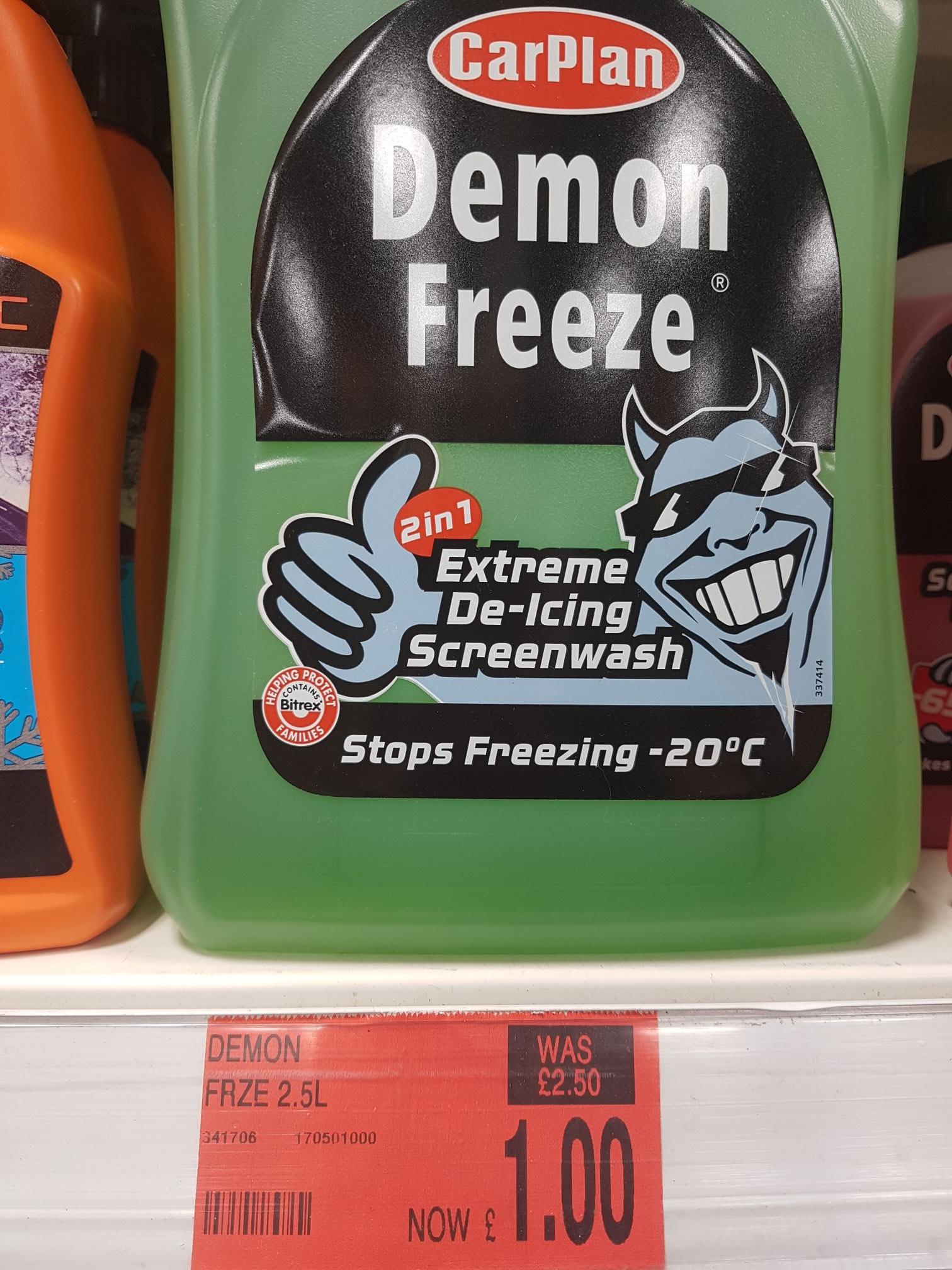 CarPlan Demon Freeze Screenwash -20 2.5L £1 instore @ B&M