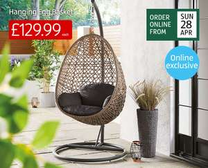 Aldi Hanging Egg Chair - from 28th April £129.99